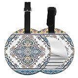 Slaytio personalizzabile indiano tappeto tribale ornamento modello rotondo bagagli etichetta valigia, etichetta valigia polsino pvc