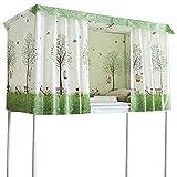 La Haute - Cortina de cama de poliéster para cama individual, litera, para estudiantes, dormitorio o dormitorio