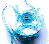 CaPiSo Cinta de organza de 6 mm, para regalo, boda, Navidad, decoración, artículo decorativo (azul hielo, 100 m)