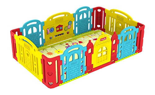 Dwinguler Castle Kids Playpen(Rainbow)