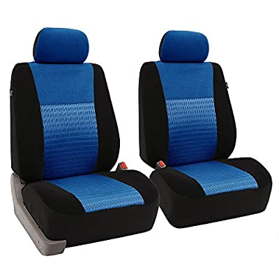 FH Group FB060BLUE102 Blue Deluxe 3D Air Mesh Front Seat Cover