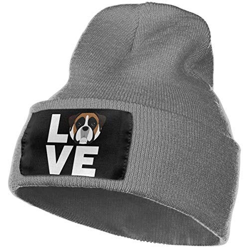 hgdfhfgd Warm Woolen Cap for Mens and Womens, 100% Acrylic Acid Love Boxer Dog Watch Cap Keep warm 18122