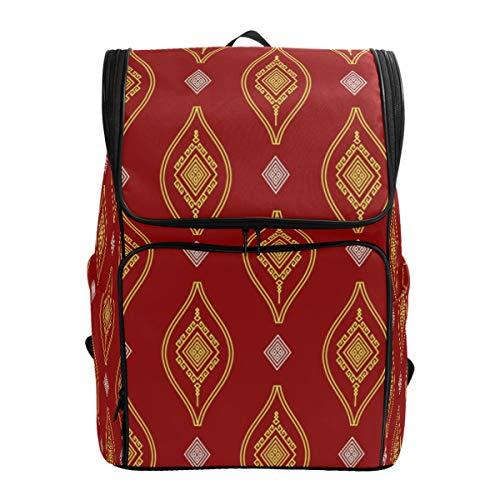 DXG1 - Mochila boho bohemia roja bolso de moda para mujeres, hombres, adolescentes y chicas, bolsa de libros, viaje universitario casual, mochila de regreso a casa, suministros de gran capacidad