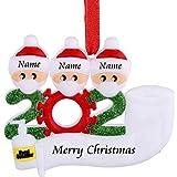 PECHTY Decoraciones navideñas,Adorno Navideño Adornos de Familia Sobrevivido Decoraciones para el hogar Personalizado de la Familia navideñas 2020 Adorno de árbol de Navidad