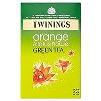 1パックオレンジ&蓮緑茶20トワイニング - Twinings Orange & Lotus Green Tea 20 per pack [並行輸入品]