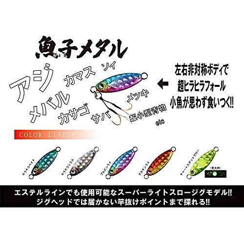 魚子メタル ギョシメタル スロージグ アジ アジング メバル メバリング (アカキンラメ, 1g)