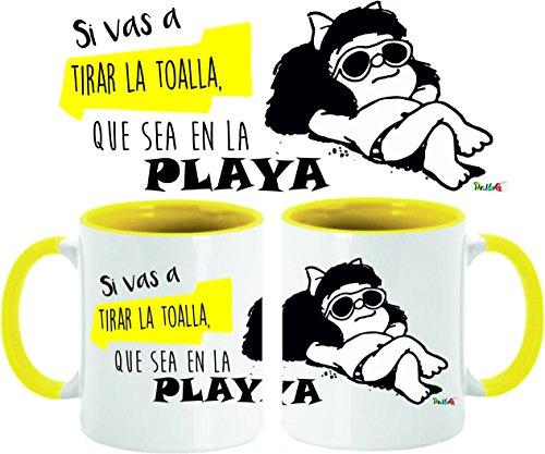 Taza Mafalda No tires la toalla