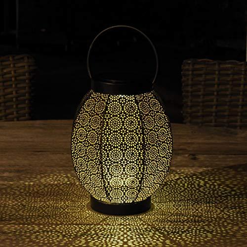 Gadgy Solar Laterne Aussen Blume | LED Solarlaterne für Außen | Terassendeko Für Draußen | IP65-Wasserdicht | Orientalische Gartendeko | Hängende oder Tischleuchte