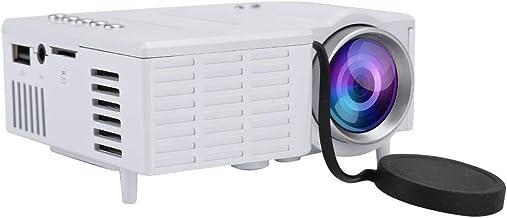 Mini Proyector, Full HD 1080P Videoproyectores Portátiles con 20,000 Horas Vida útil de la Lámpara Soporte USB, HD, SD, AV, VGA Proyector LED para Smartphone, Tableta, TV, PC, etc.(Blanco)