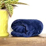 Luxurious Soft & Cozy Fleece Baby Blanket – Premium Throw for Girls and Boys – 30x40 Inches Super Warm Receiving Blanket for Strollers, Cribs, Car Seats, Kids Bed, Travel, Outdoor & Pets (Navy)