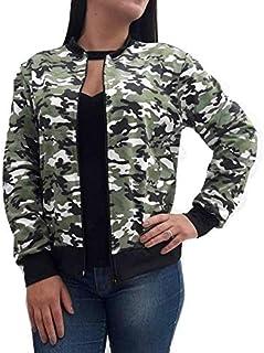 Jaqueta Casaco Bomber Camuflada Militar Feminina Cor:Verde escuro