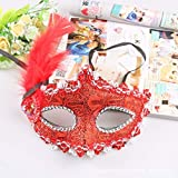 SONGSH Halloween Dekoration Maske Lace Side Flower Painted Maske Make-up Halbe Gesichtsmaske Halloween Spitze Maske Dekoration Party Maske Urlaub liefert (Color : 11)