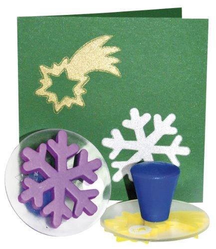 EDUPLAY Lot de 6 tampons de Noël, 220076, Multicolore