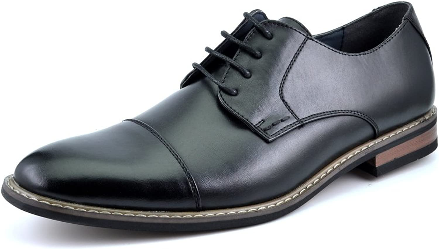 DREAM PAIRS Bruno Marc Moda  Prince Men's Classic Modern Oxford Wingtip Lace Dress shoes