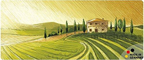 matches21 Küchenläufer Teppichläufer Teppich Läufer Mediterrane Landschaft 50x120x0,4 cm maschinenwaschbar rutschfest Küchenvorleger