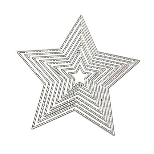 Plantillas de metal para troquelar, álbum de fotos, decoración, dise?o de estrellas-E001