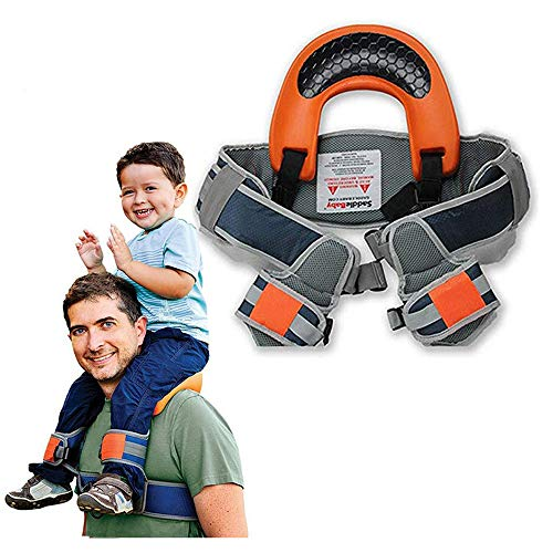 Child Shoulder Carrier Baby Saddle Toddler Hiking Backpack Baby Ankle Straps Hands Free Backpack-Holds a 44.1lb Child for Ergonomic Seat