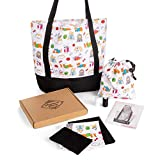 DIY Tote Bag Craft Kit - Sewing Project for Adults, Teens, and Kids - Decorative Bag Making Kit Features Colorful Dog/Animal Pattern - Relaxing and Fun Art Gift for Beginners and Enthusiasts