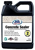 Rain Guard Water Sealers SP-4002 Concrete Sealer Concentrate - Water Repellent for Interior or Exterior Concrete - Covers up to 400 Sq. Ft, 32 oz Makes 2 Gallons, Invisible Clear