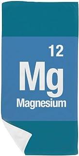 DIYthinker MG magnesio Elemento químico Chem Toalla de baño Suave Toallita Facecloth 35X70Cm
