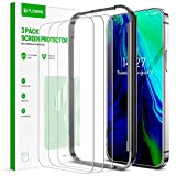 FLOVEME Glass Protector Compatible with iPhone 12 iPhone 12 Pro Screen Protector (3 PACK) 6.1inch 2020 Tempered Glass Compatible with iPhone 12 iPhone 12 Pro Screen Film Case-friendly Alignment Frame