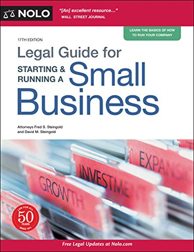 Compare Textbook Prices for Legal Guide for Starting & Running a Small Business Seventeenth Edition ISBN 9781413328608 by Steingold Attorney, Fred S.,Steingold Attorney, David