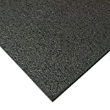 Rubber-Cal Treadmill Mat, Black, 3/16-Inch x 4 x 7.5-Feet