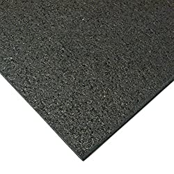 "small Rubber cult red mill mat, black, 3/16 ""x 4″ x 7.5ft"