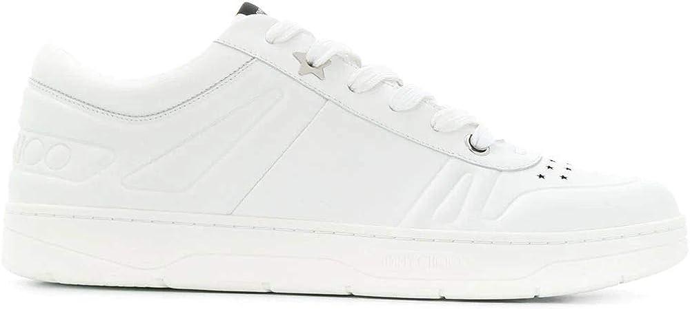 Jimmy choo luxury fashion ,sneakers per uomo,in vera pelle 100% HAWAIIMTCOWHT