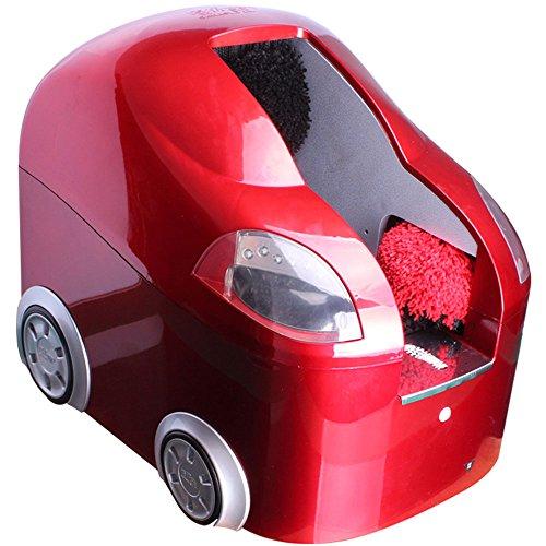 QFFL Lucidatrice Automatica Sensore Automatico Lustrascarpe per Uso Domestico Elettrodomestico con Doppio spazzolino Elettrico Rosso 497 * 374 * 398mm Spazzola per la Pulizia