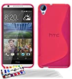 Muzzano F1409064 - Funda para HTC Desire 820 + 3 protecciones de pantalla, color rosa