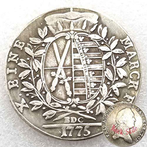FKaiYin 1775 Monedas antiguas alemanas antiguas – Moneda antigua sin circulación – Moneda vieja conmemorativa regalo para papá/amigo/marido experiencia futura
