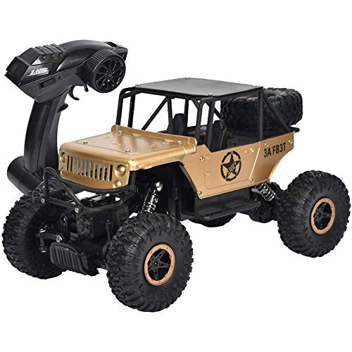 wangch All-Terrain 1/18 Anti-Shock And Anti-Drop Remote Control Car 2.4g Four-Wheel Drive Climbing Off-Road Vehicle Bigfoot Mountain Bike Electric Drq Racing Boy and Girl Toy Gift (Color : Green)