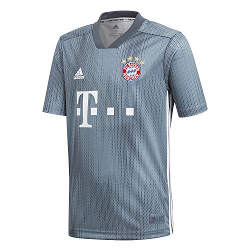 adidas Kinder Trikot 18/19 FC Bayern 3rd, raw Steel/Utility Blue/White, 176, DP5451