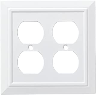Franklin Brass W35247-PW-C Classic Architecture Double Duplex Wall Plate/Switch Plate/Cover, White