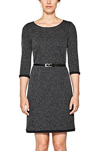 ESPRIT Collection Damen 997EO1E805 Kleid, Grau (Gunmetal 015), Large
