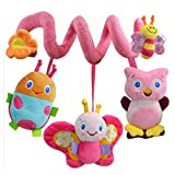 Infant Baby Activity Spiral Plush Toy Bed Crib Stroller Toy Hanging Baby Rattle Toys for Newborn Girls Boys...