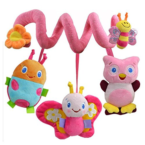 Infant Baby Activity Spiral Plush Toy Bed Crib Stroller Toy Hanging Baby Rattle Toys for Newborn Girls Boys Toddlers by TheBigThumb