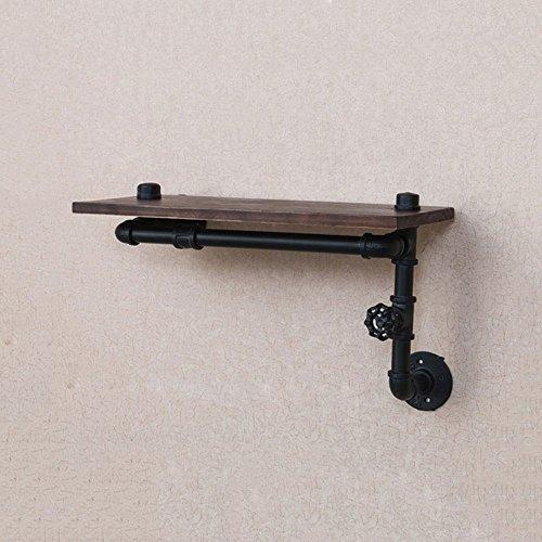 Rishx Rustikale industrielle Eisen Rohr Wand Regale Holzbohlen Bücherregal Lagerung schwimmende Regal für Wohnzimmer Dekor