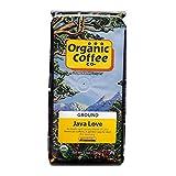 The Organic Coffee Co. Java Love Ground Coffee 12 Ounce Medium Light Roast USDA Organic