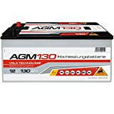Panther AGM130 Solarbatterie 12V 130Ah Solar Versorgung Antrieb Boot AGM Batterie