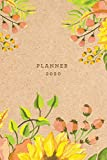 Planner 2020: Weekly Monthly | Kraft Paper + Watercolor Floral | 6x9 in | 2020 Organizer with Bonus Dotted Grid Pages + Inspirational Quotes + To-Do Lists (Organizers and Diaries)