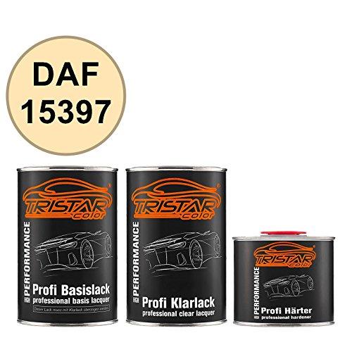 TRISTARcolor Autolack Set Dose spritzfertig für DAF 15397 RAL 1014 Elfenbein Basislack + 2K Klarlack 2,5L