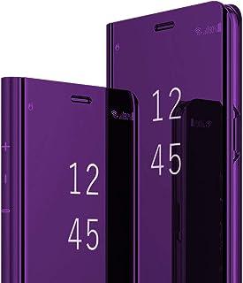 Lajeri Für Samsung Galaxy S9 Plus Hülle Galaxy S9 Plus Handyhülle Spiegeln Leder Flip Hülle Ständer Clear View Spiegel Überzug PC 360 Grad Tasche Schutzhülle mit Standfunktion Handyhülle