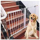 J+N Sicherheitstür Leitplanke Babytor Baby-Kind-Sicherheits-Gate Bar Baby-Treppe Zaun Hund Kamin Zaun Pole Isolierung Tür Selbstschließdruck Berg Baby-Sicherheitstür (Color : White, Size : 145-153cm)