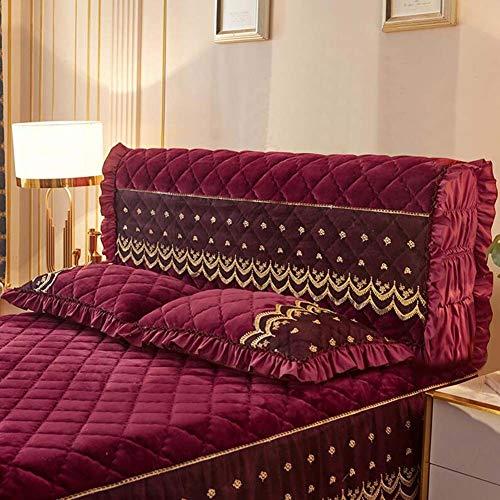 YQ QY Kopfteil Stoffkunst Schutzhülle 2.0 Bettdecke Alles Inklusive Modern Europäischer Stil Staubschutzhaube Schutz Soft Case Bettdecke (Color : T5, Size : 220cmx65x30)