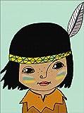 Poster 100 x 130 cm: Indianerjunge Winnetou von Little Miss