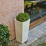 Macetero Cuadrado 60 cm Exterior e Interior Polietileno Alta Calidad y Diseño...