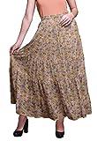 Bimba Faldas Maxi Estampadas Mujer Estilo Bohemio Gitano Falda Larga de algodón