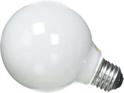 GE Soft White Decorative 60W Incandescent G25 Globe Light Bulbs, 1.4 Year Life, 8